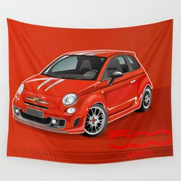 FIAT Abarth 500 Wall Tapestry
