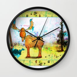 Blue Moose on the Loose ~Ginkelmier Wall Clock