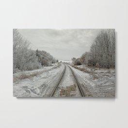 Winter Rails Metal Print