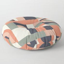 Earth Tones Blocks Floor Pillow