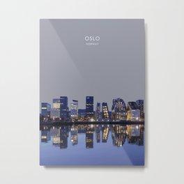 Oslo, Norway Travel Artwork Metal Print
