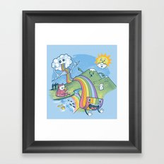 Rainbow Pasta Framed Art Print