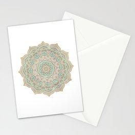 Mystic mandala - blue and gold Stationery Cards