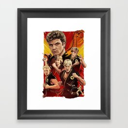 Cobra Kai Never Die Framed Art Print