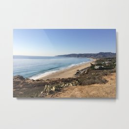 Malibu, California - Coastline Metal Print