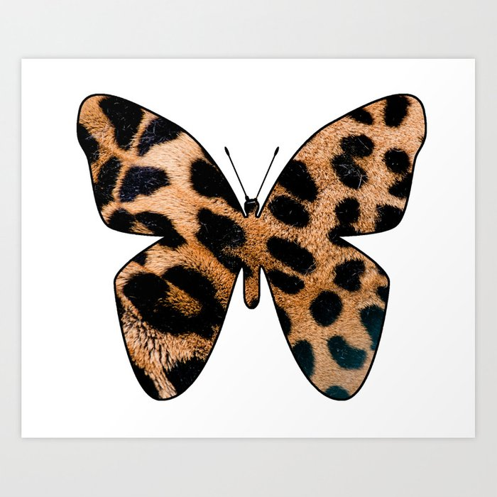 LEOPARD BUTTERFLY Art Print by catspaws | Society6