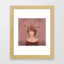 lil reindeer Framed Art Print