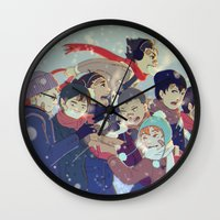 haikyuu Wall Clocks featuring Haikyuu!! by x3uu