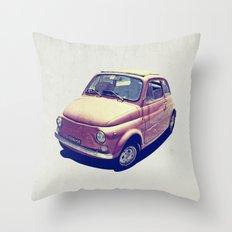 Fiat 500 - Italia Car Throw Pillow