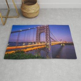 World Famous Historic George Washington Bridge Hudson River New York City Ultra HD Rug