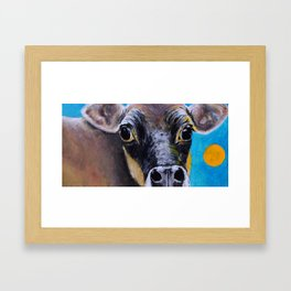 Moon: The Eyes of a Jersey Cow Framed Art Print