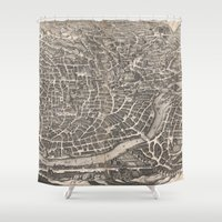 rome Shower Curtains featuring Rome  by Le petit Archiviste