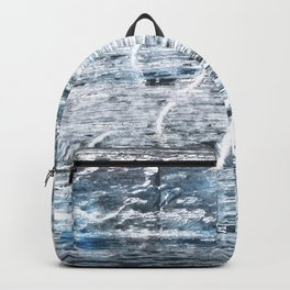 Columbia Blue abstract watercolor Backpack