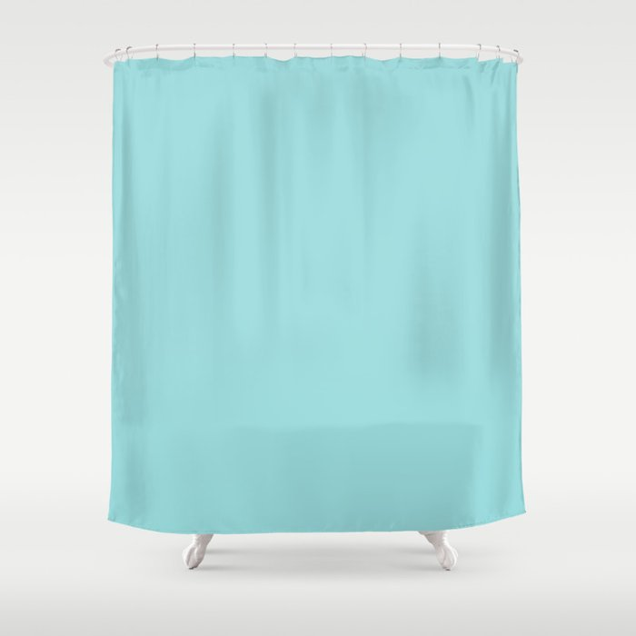 Solid Color LIGHT TEAL Shower Curtain