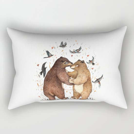 Bear Dance Rectangular Pillow