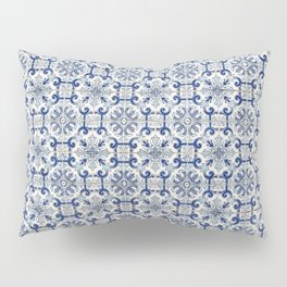 Portuguese tiles pattern blue Pillow Sham