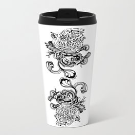 Floral Dichotomy Metal Travel Mug