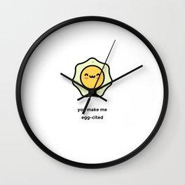 JUST A PUNNY EGG JOKE! Wall Clock
