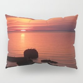 Peaceful Reflections of Nature at Dusk Pillow Sham