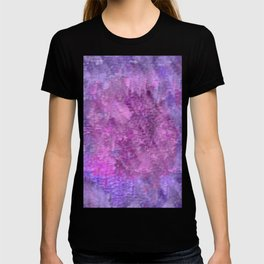 Pink and purple rough texture T-shirt