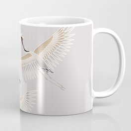 traditional Japanese cranes bright illustration Coffee Mug