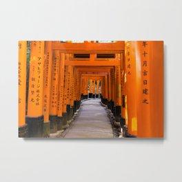 The torii's of Fushimi Inari-taisha - Kyoto Japan photo print   Travel photography Art Print Metal Print