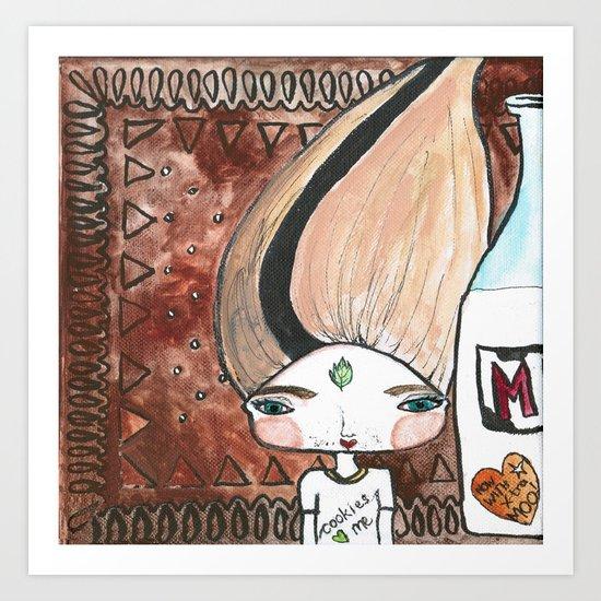 Milk & Cookies Bhoomie Art Print