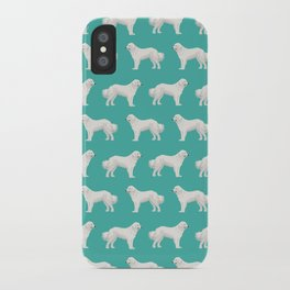 Great Pyrenees dog portrait pet gifts for dog person with unique dog breeds by pet friendly iPhone Case