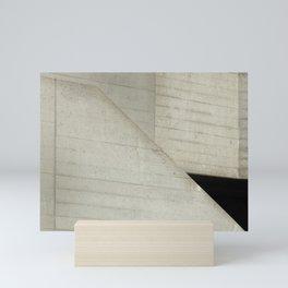 breton brut - brutalist concrete abstract Mini Art Print