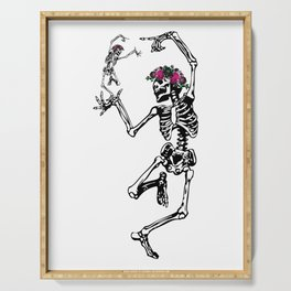 Two Dancing Skeletons | Day of the Dead | Dia de los Muertos | Serving Tray