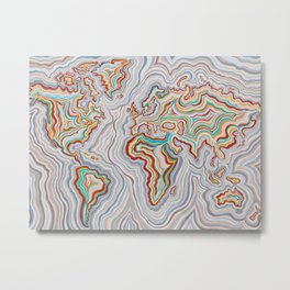 World At Peace Metal Print