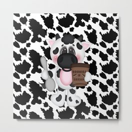 Cow Eating Ice Cream Metal Print