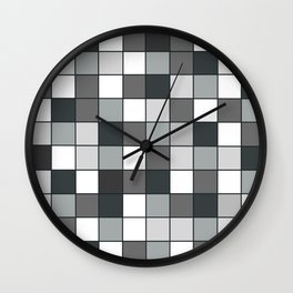 Square compound pattern Wall Clock