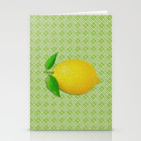 lemon Stationery Cards featuring Lemon by Mr and Mrs Quirynen