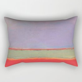 1951 No 6 Violet Green and Red by Mark Rothko HD Rectangular Pillow
