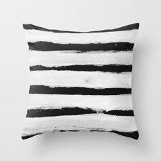 BW Stripes Throw Pillow