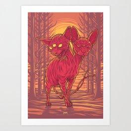 Lovely Dark Creatures series - Cadent Art Print