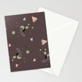 geometric pattern pink version Stationery Cards