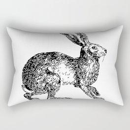 Rabbit Rabbit Woodland Print Rectangular Pillow