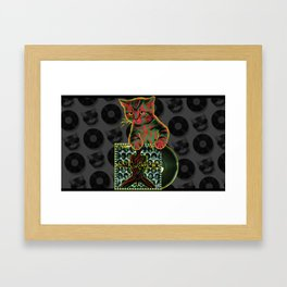 Tribe Cat Framed Art Print