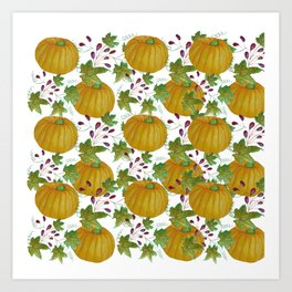 Orange Pumpkin Art Print