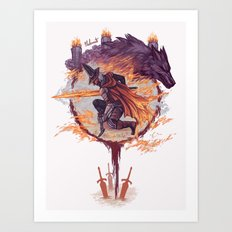 Abyss Watchers - Dark Souls 3 Art Print