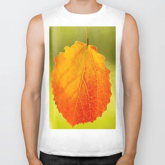 Colorful Autumn Leaf Biker Tank