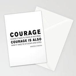 Courage quote - Winston Churchill Stationery Cards