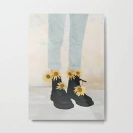 My Boots Metal Print