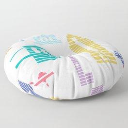New York Skyline White Floor Pillow