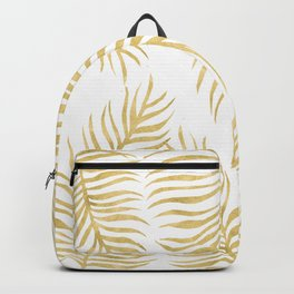Fern Pattern Gold Backpack