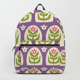 Mid Century Modern Sunflower 103 Backpack