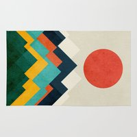 outdoor Area & Throw Rugs featuring The hills are alive by Picomodi