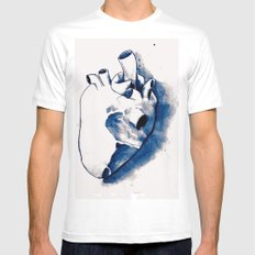 corazónB Mens Fitted Tee White MEDIUM
